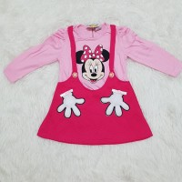 Baju Dreas Anak Bayi Perempuan Overall Kodok Semi Overall Minnie