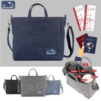 Tas Selempang Korea Style Banyak Slot/ Traveling Sling Bag