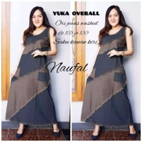 Yuka Overall Terusan Jumpsuit Jeans Gamis Outher Muslim No Inner