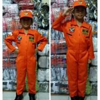kostum profesi anak/ kostum pilot pesawat tempur/ baju karnaval