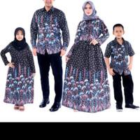 coupel batik pesta sekeluarga dress baju Muslim keluarga gamis batik