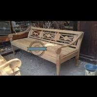 Kursi panjang antik kayu jati Jepara - bale bale bangku ukir mentahan