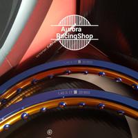 PROMO Velg TDR Wx Shape Two Tone Set Ring 17 x 140 / 140 warna Blue