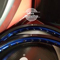 PROMO Velg TDR Wx Shape Two Tone Set Ring 17 x 140 / 140 warna Black