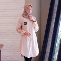 Tunik Fila cream [Hijab 0124] RKA Baju Gamis Wanita Muslim