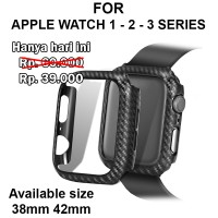Fiber Carbon case Apple Watch 1 - 2 - 3 iWatch casing cover 38mm 42mm - 38MM