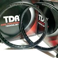Velg TDR ring 17 model kotak W shape lebar 160 160 depan bel beb Pel