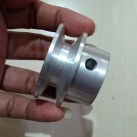 Pulley alumunium A1 2 inch as 12mm puli 2 inci alumunium