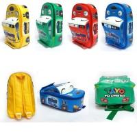 Tas Ransel Sekolah Anak PAUD Bentuk Mobil TAYO