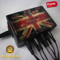 Mini Stompbox Power Supply Efek Gitar 8port 9volt DC 1000Mah