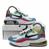 Sepatu Sneakers Women Wanita Nike Air Max 270 React BAUHAUS White Blue