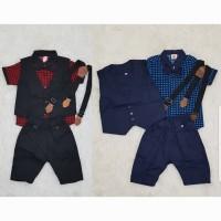 Baju Pesta Tuxedo Kondangan Anak Bayi Lakilaki Kemeja Kodok Kotak2