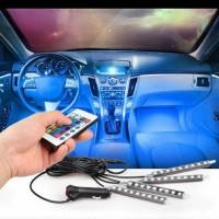 B55 Lampu LED Kolong Mobil RGB Lampu Dashboard 16 Warna + Remote
