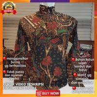 Baju Batik Pria Lengan Panjang Pendek Tulis Ganes Pesta kantor BGN01
