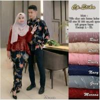 couple Baju set kebaya burkat impot /kebaya baju seragam wisuda -navy