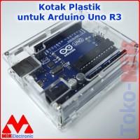 PLASTIC SHELL TRANSPARENT BOX KOTAK PLASTIK ARDUINO UNO R3