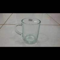 Gelas Kopi Gagang Bening Beling/Gelas Gagang Murah 6pcs