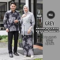 Couple Batik kebaya brokat mutiara- Sarimbit Baju Batik Gamis