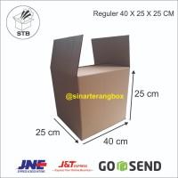 KARDUS BOX POLOS KARTON PACKING 40 x 25 x 25 CM