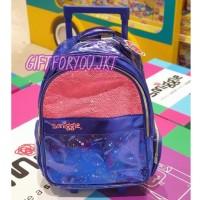 Smiggle Trolley Tas Koper Flip Sequin Anak Perempuan Original