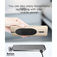 BASEUS Microfiber Qi Wireless Charging Receiver Type C Charger Casan