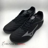 TERLARIS Sepatu Futsal Mizuno Original Rebula Sala Black Shadow