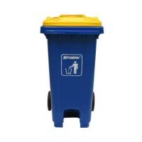 Krisbow Tempat Sampah Plastik 240 Ltr - Biru Wheel