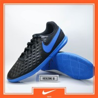 Sepatu Futsal Nike Legend 8 Club IC Black Blue Original - Nike Tiempo
