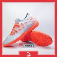 Sepatu Futsal Puma Future 4.4 TT glacial blue Grey Orange Original