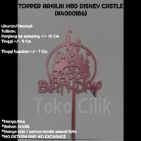 topper/tusukan/arkilik/happy birthday/disney/castle/istana/cake/bento