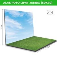 Alas Foto Lipat Jumbo Langit Rumput 50x70cm / Background Foto (GRJ-01)