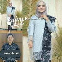 free selendang batik Couple Mutiara Gamis baju Kebaya brokat