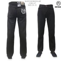 celana jeans regullar standar kanvas nevada cowok pria hitam abu