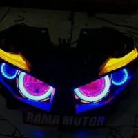 Projie Led Honda Vario led Old 125 150 1set Reflektor Headlamp