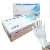 Safeglove putih HARGA BOX isi 100 sarung tangan latex hand gloves