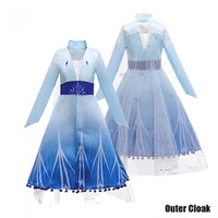 Dress Elsa Frozen II Kostum Elsa Frozen - Outer Cloak, 110