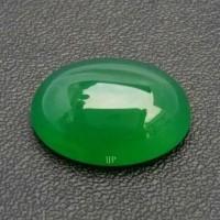 Batu Akik Natural Green Chalcedony - Hijau Garut Kristal Bergiwang