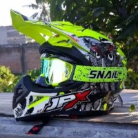 Helm Cross JPX X13 Yellow Fluo Ongkir Termurah 2k
