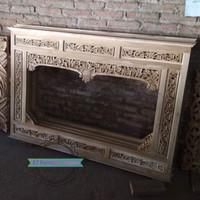 Figura cermin tembok/ krepyak ukir kayu jati Mebel Jepara