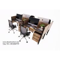 Meja kantor cubicle 4 staff gratis ongkir jabotabek