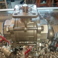 ball valve stainless foot mounting actuator 1/4