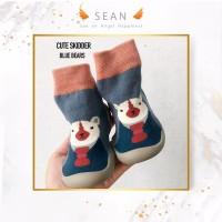 Sepatu kaos kaki Bayi Pre Walker Shoes Baby KoreaBoots Skidder Skidder - Kuning, 14.5