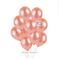balon latex metalik / balon karet rose gold perpack 12 inch ( isi 100)