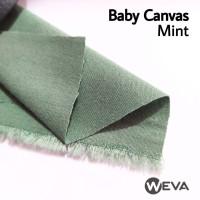 Bahan Kain Baby Canvas Mint