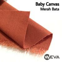 Bahan Kain Baby Canvas Merah Bata
