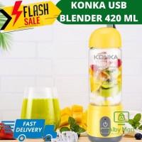 Juicer Portabel KONKA-Blender Mini-Pengisian Daya USB-Gelas 420ML