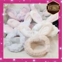 Bandana Korea Motif Kelinci Bulu Premium Quality Best Seller!