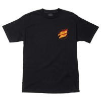 T-Shirt Santa Cruz Flame Hand (Black) / Baju Santa Cruz Skateboard