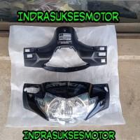 batok kepala depan belakang motor supra x 125 lama hitam berikut lampu