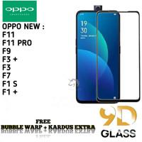 OPPO F9 F7 F1S Tempered Glass/ Anti Gores Kaca Full Lem 5D/9D
